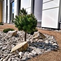 Zahrady Lukša - skalka na komerčním pozemku
